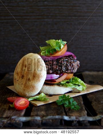 Burger With Salad