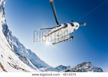 Heli Skiing Helicopter