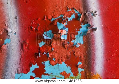 Red Graffiti And Grunge