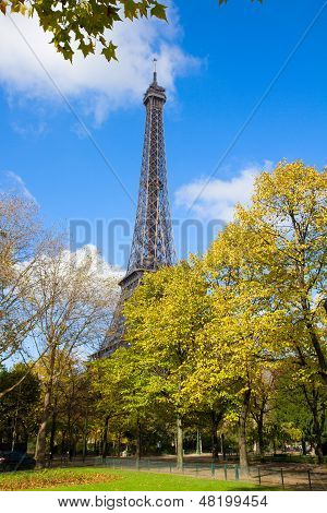 Eiffel Tower at autumn, France