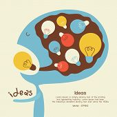 Eating an idea and go to head, vector EPS10 poster