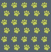 Traces of Cat Textile Pattern. Vector seamless. poster