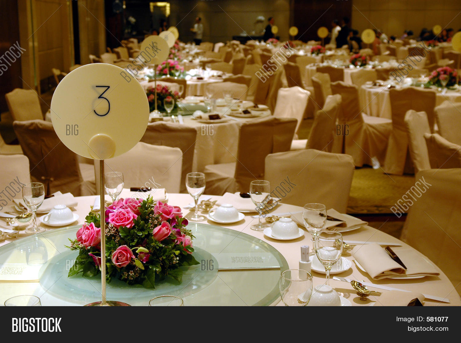 Chinese Wedding Banquet Table Setting