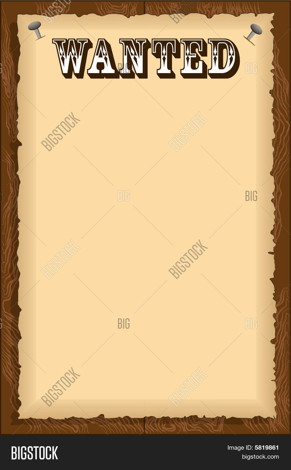 Wanted Poster Vector & Photo (Free Trial) | Bigstock
