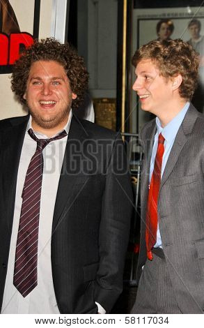 Jonah Hill and Michael Cera at the Los Angeles Premiere of