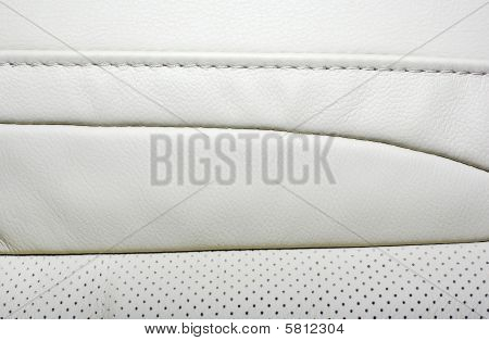 High Quality Beige Leather Background. Interior Of Modern Luxury Japanese Car.