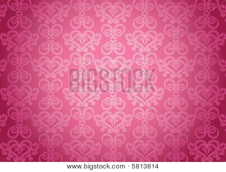 Pink Glamour Ornamental Pattern