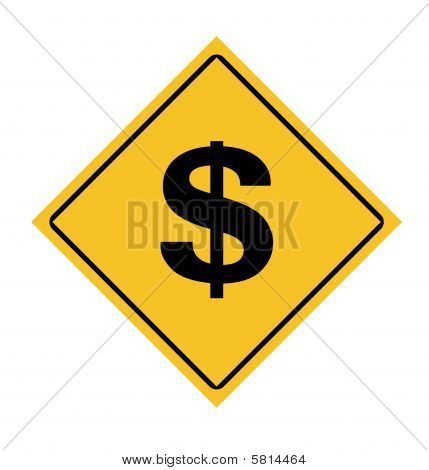 Dollars Road Sign