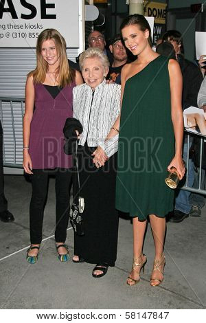 Maggie Grace and guests at the premiere of