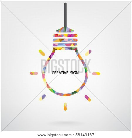 Creative Light Bulb Symbol