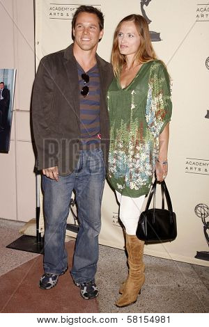 Dylan Bruno and wife Emmeli at an evening with