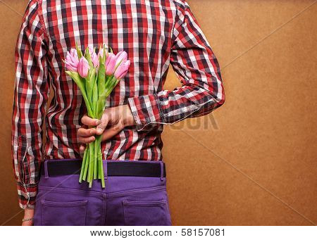 Man With Tulips