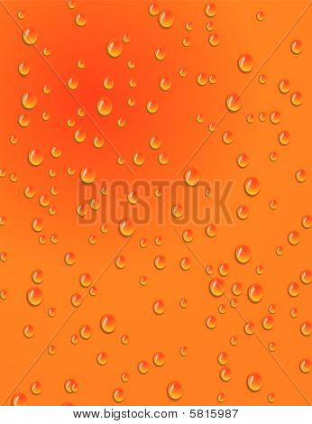 Seamless orange background with water drops