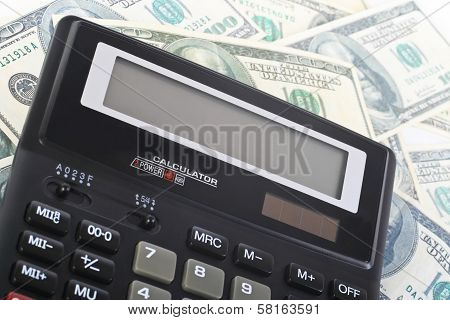 Calculator On Banknotes