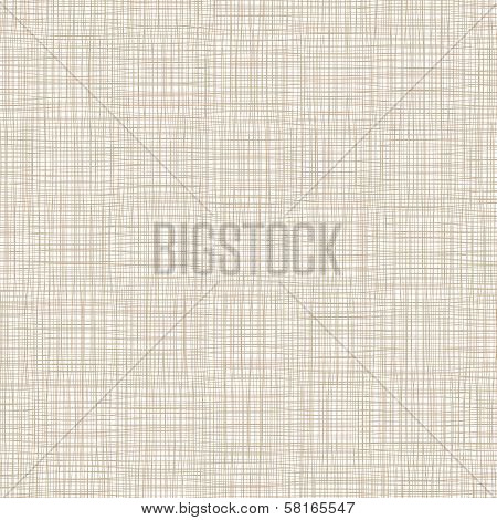 Background With Threads, Natural Linen. Vector Illustration poster
