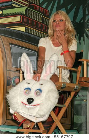 Pamela Anderson at the L.A. Times Festival of Books, promoting