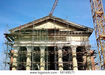 Restoration Of An Ancient Classical Building