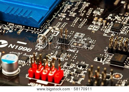 Laptop Motherboard Closeup