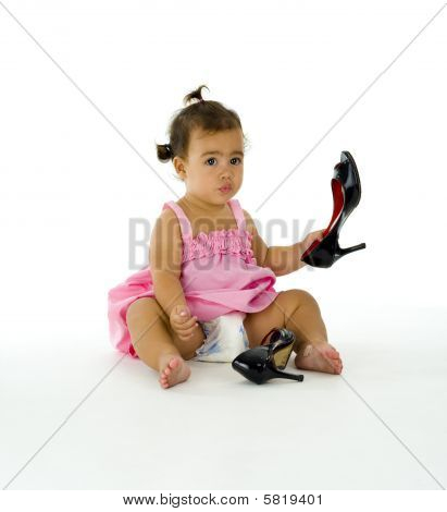Girl With High Heels Shoes