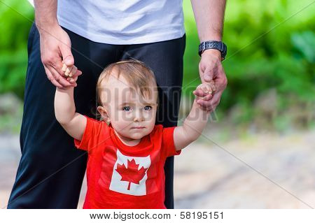 Toddler In Canadian Shirt
