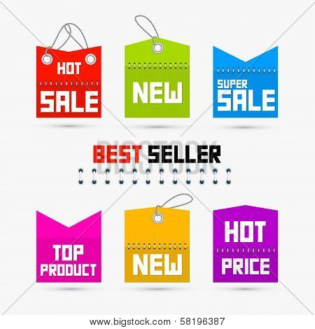 Colorful Sale, Discount Tags, Labels