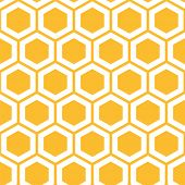 Vector illustration of seamless geometric pattern with honeycombs poster