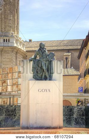 Saragossa. Monument To Francisco Goya