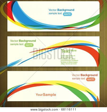 Web header template design, vector