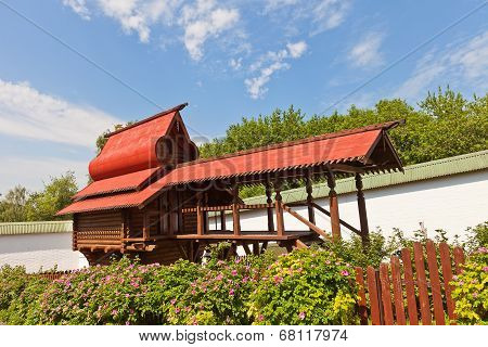 Monastery Poultry House In Dmitrov, Russia
