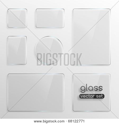 Glass plates set