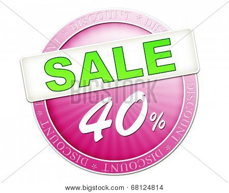 An image of a useful sale button 40%