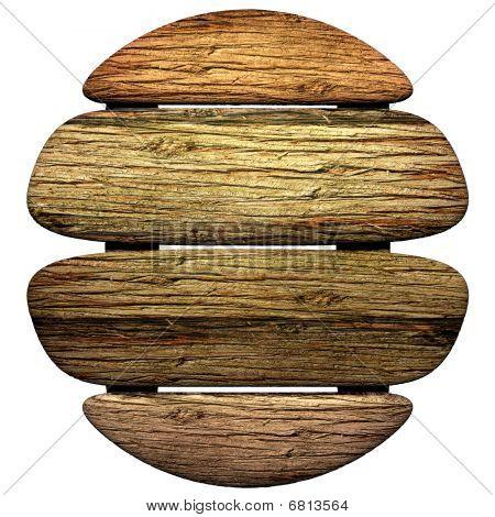 Wooden Oval Board