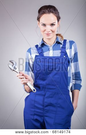 Handywoman With Pillers