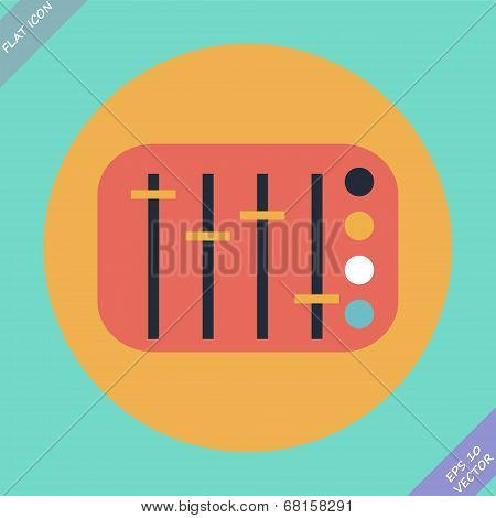 Mixing console faders - vector illustration