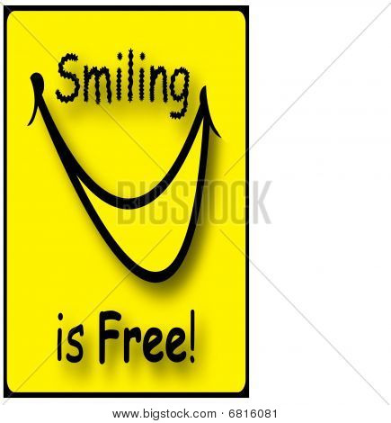 Smiling is Free Illustration