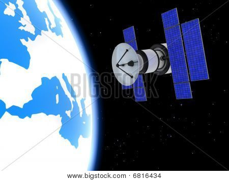 Satellite And Earth