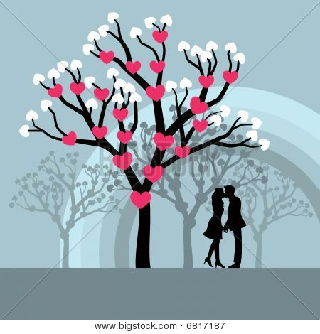 Winer Love Tree