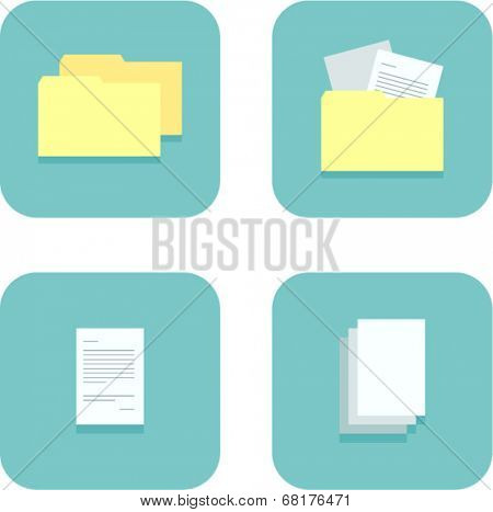folders and documents icons