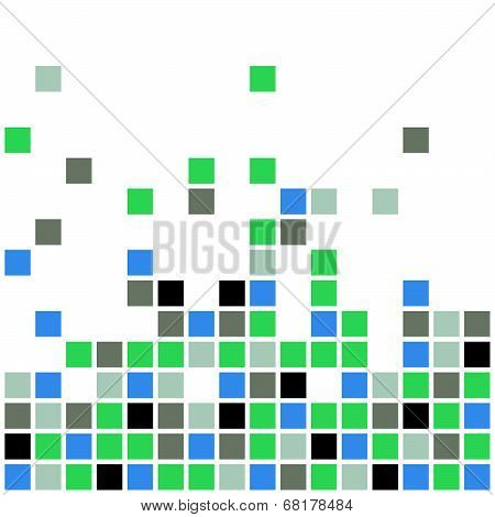 An abstract vector background in a pixel art style poster