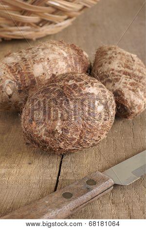Eddoe A Tropical Root Vegetable