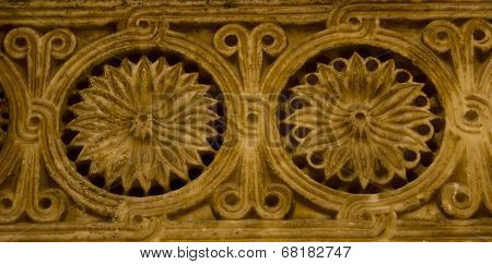 Seljuk Architecture Carving Detail