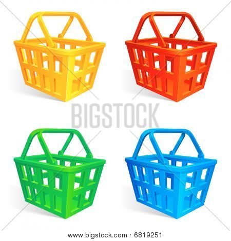 Shopping baskets.