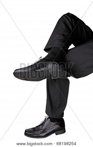 Crosslegged Businessman