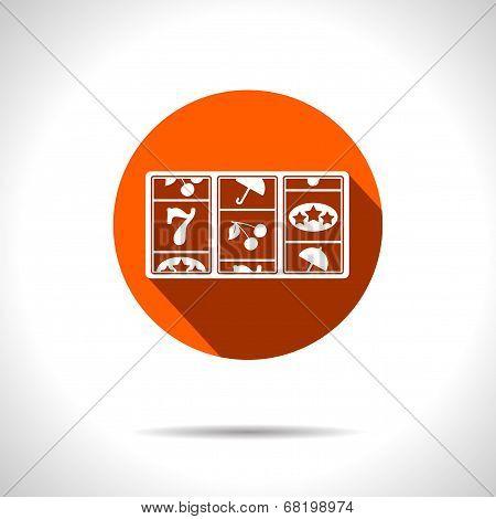 Vector orange slot icon. Eps10
