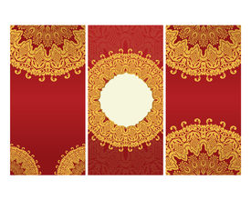 greeting cards  in east style on red background
