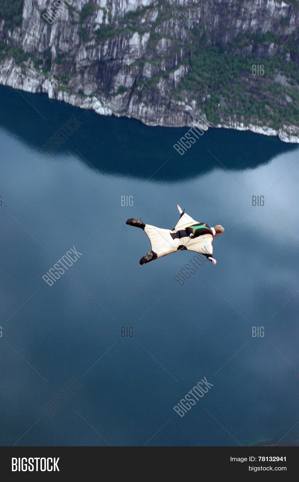 BASE Jump Off Cliff Image & Photo (Free Trial) | Bigstock