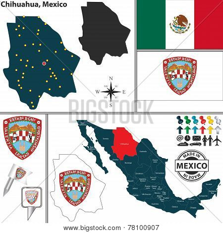 Map Of Chihuahua, Mexico