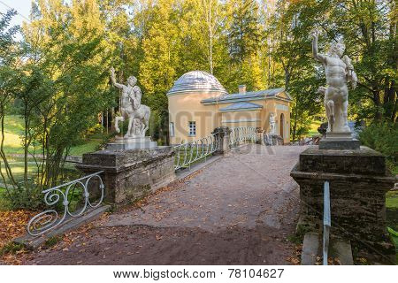 Centaurs Bridge In Pavlovsk Park