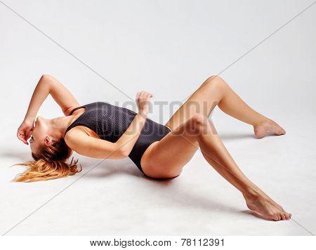 girl lying on the floor