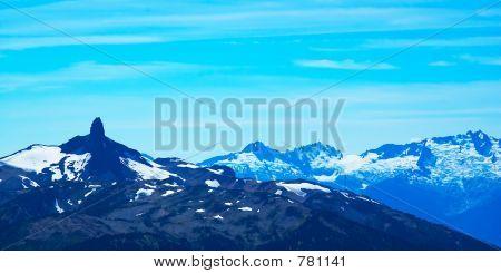 Pointy snow peaks